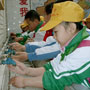 Photo: Children washing hands
