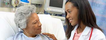 Photo: Patient with healthcare professional