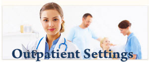 Healthcare workers in outpatient settings