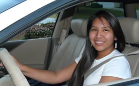 Female Native American driver