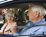 Photo: older adult couple in the car