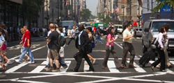 Photo: pedestrians in a crosswalk