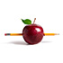 apple with a pencil icon