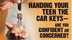 Handing your teen the car keys...