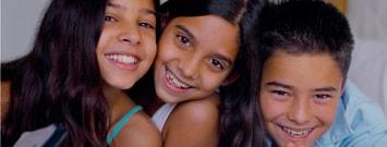 Foto de tres niños