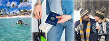 Fotos de viajes: Una persona nada en aguas tropicales; esperando con el pasaporte; vestimenta de invierno