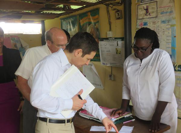 Talking immunization with staff at a secondary health care center in Keffi, Nasarawa state, Nigeria.