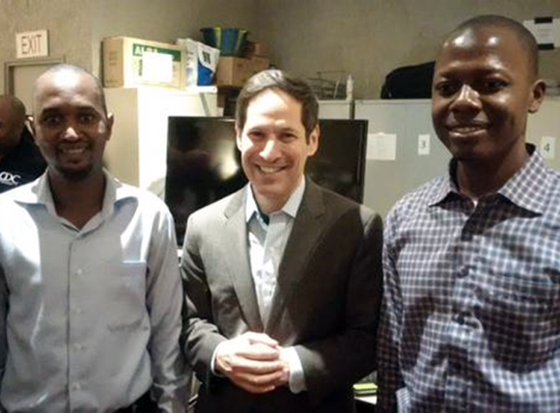 Recently met Ibrahim and Chernoh, med students in Sierra Leone who volunteer with CDC's Ebola responders.