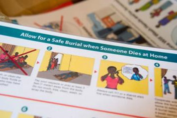 Materials developed at CDC headquarters in Atlanta, Georgia, are being used in Sierra Leone to educate people in villages.