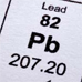 Photo: Periodic table of elements symbol for Lead, Pb