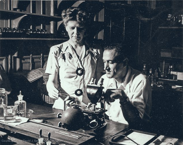 Early researchers in the first CDC laboratory, 1945