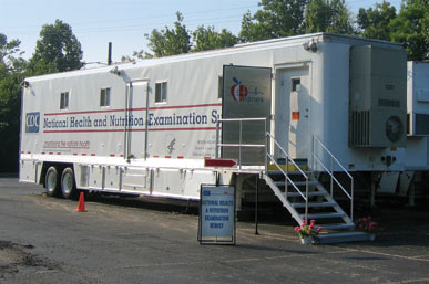 CDC mobile examination center.