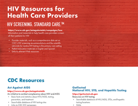 Cover image: HIV Resources for Health Care Providers