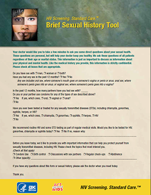 Sexual History Tool thumbnail