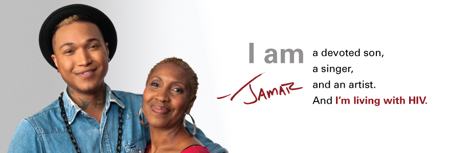 Let's Stop HIV Together banner image: I am a devoted son, a singer, and an artist. And I'm living with HIV.
