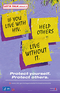 PIC Living with HIV poster thumbnail