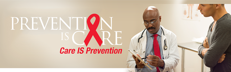 Prevention IS Care. Care IS Prevention. Photo of a doctor consulting with a patient.