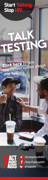 Start Talking. Stop HIV. Talk PrEP Click here to join the conversation about HIV Testing. Act Against AIDS. Instagram/Act Against AIDS,Facebook/StartTalkingHIV, Twitter @TalkHIV