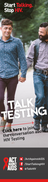 Start Talking. Stop HIV. Talk Testing. Click here to join the conversation about HIV Testing. Act Against AIDS. Instagram/Act Against AIDS,Facebook/StartTalkingHIV, Twitter @TalkHIV