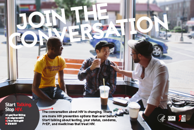 poster thumbnail - Join the Conversation, men in a cafe