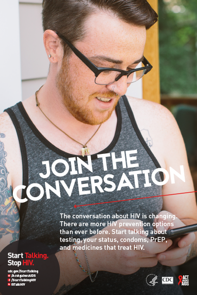 poster thumbnail - Join the Conversation - man texting
