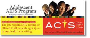 Adolescent AIDS Program - Advise, Consent, Test, Support (ACTS) logo.