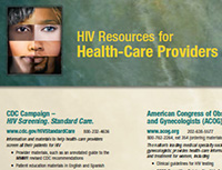 HIV Screening. Standard Care. Resources Guide