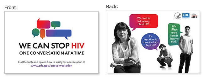 Palm Card | Campaign Materials | We Can Stop HIV One Conversation ...