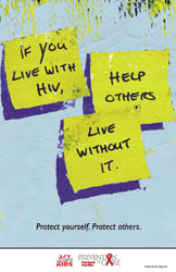 The Living with HIV poster was designed to provide patients with    Hiv Prevention Poster