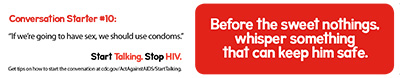 Start Talking. Stop HIV. talk card
