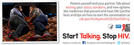 Start Talking. Stop HIV. palm card: Talk before you... card back #2