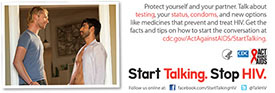 Start Talking. Stop HIV. palm card: Talk before you... card back