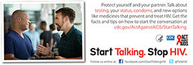 Start Talking. Stop HIV. palm card: Talk can be the perfect foreplay card back