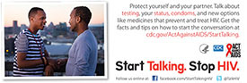 Start Talking. Stop HIV. palm card: Make conversation before you make out card back