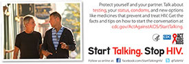 Start Talking. Stop HIV. palm card: Talk before you play card back