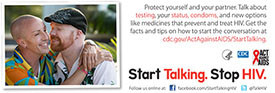 Start Talking. Stop HIV. palm card: Before the sweet nothings, whisper something that can keep him safe card back