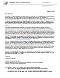 image of a letter from Dr. Mermin