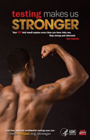 Testing Makes Us Stronger poster - arm flex