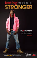 Testing Makes Us Stronger poster - pink hoodie
