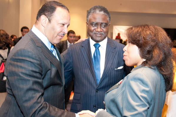NUL President Marc Morial and George Cury