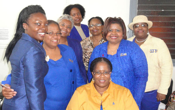 Picture of Sigma Gamma Rho members in New Orleans