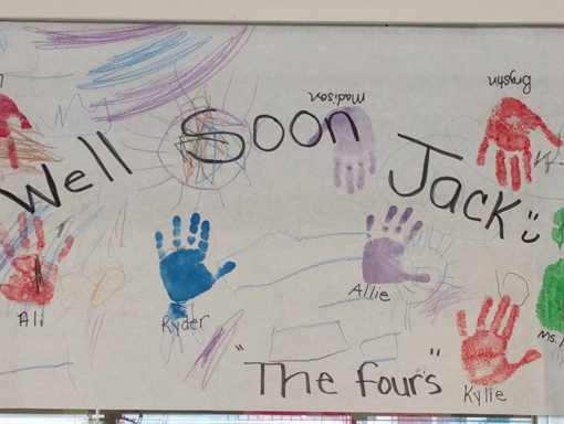 A get well card for Jack.