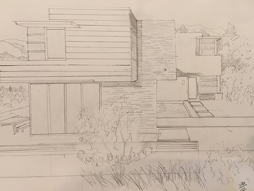 One of Terrance's architectural drawings.