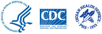 HHS, CDC, Indian Health Services logos