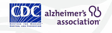 CDC and Alzheimer's Association logos