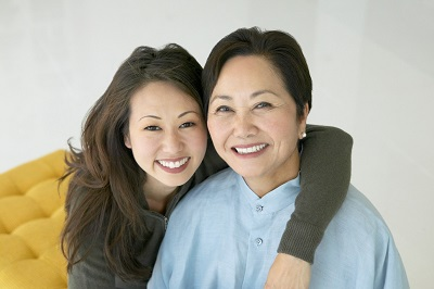Asian Women smiling