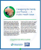 Caregiving for Family and Friends - A Public Health Issue cover