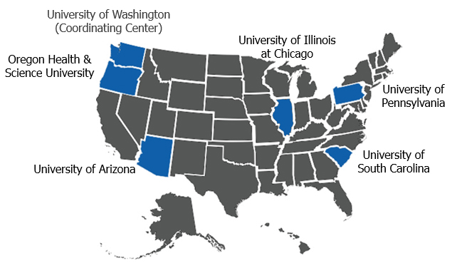 Healthy Brain Initiative institutions map
