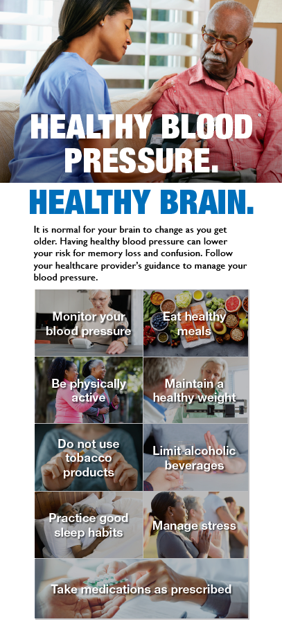 Healthy Blood Pressure Healthy Brain front