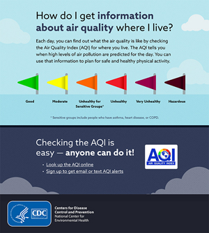 How do I get information about air quality where I live - infographic